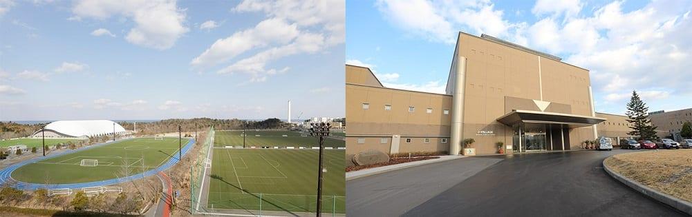 Punto de partida del Relevo de la Antorcha Olímpica, J-Village, Naraha y Hirono, prefectura de Fukushima