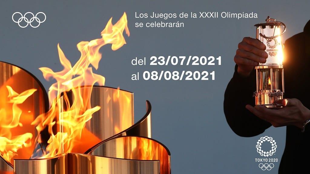 Nueva Fecha Juegos Olímpicos de Tokio 2020 - entre el 23 de julio y el 8 de agosto de 2021
